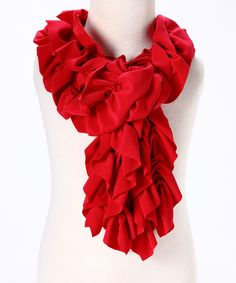 Cherry Red Ruffle Me Scarf - Girls Red Scarves, Knit Scarves, All Fashion, Dress Me Up, Toddler Girl, Fall Outfits, Essentials, My Style, Boomer Sooner
