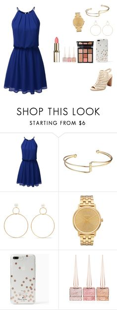 """""""Untitled #320"""" by the-love-star786 ❤ liked on Polyvore featuring Natasha Schweitzer, Nixon, Kate Spade, Charlotte Tilbury, Christian Louboutin and Renvy"""