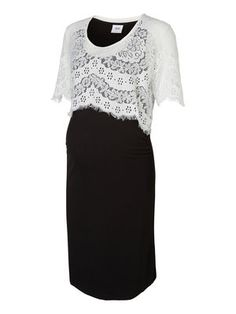Black dress with a white laced detail :)