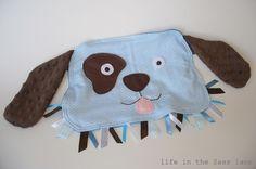 Puppy tag blanket