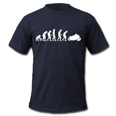 Tee shirt motorcycle evolution
