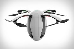 An futuristic looking egg shaped quadcopter camera drone. - Looking To Get Your First Quadcopter? TOP Rated Quadcopters has great quadcopters that will fit any budget. Leica, Microsoft, Small Drones, Latest Drone, Flying Drones, Drone For Sale, Drone Technology, Nanotechnology, Drone Quadcopter