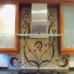 complete mosaic installation