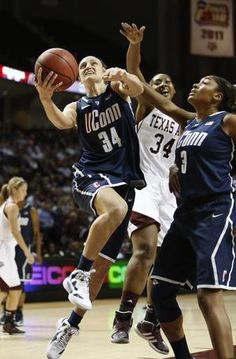 UCONN-My fav women's b-ball team!! #34 is not only not my friend but also my mentor and role model