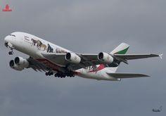 Toutes les tailles | Emirates / Airbus A380-861 / A6-EEI / United For Wildlife | Flickr: partage de photos!