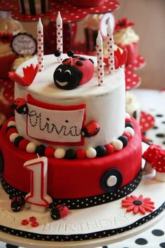 Lady bird 2 tier cake (2)