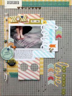 #papercraft #scrapbook #layout  Melanie Blackburn