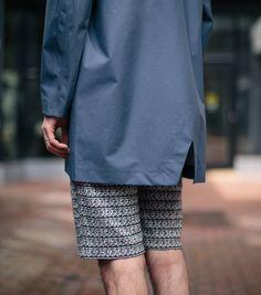 Mac flat fishtail plus AOP texture shorts