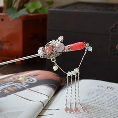 Original Handmade Jade Flowers Oriental Hairpin - iDreamMart.com