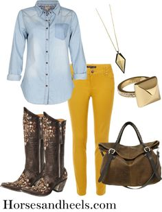 How to Wear Mustard Jeans