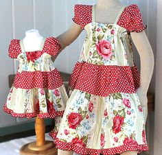 ffbea383ff6e Matching Sister Dresses Matching Sister Easter Dresses 2014 Polka Dot Red  Pink Rose Peasant Dress Big Sister Little Sister Childrens Clothes