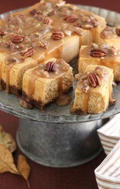 Sprinkle Bakes: Sweet Potato Pecan Praline Cheesecake Bars