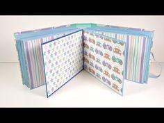 Mini Album Infantil acordeón con tapas duras | Scrapbooking | Mundo@Party - YouTube