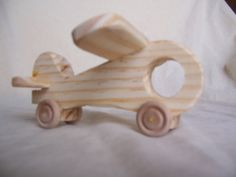 Small Toy Airplane, Handmade from Recycled Wood for the Little Kids by Tigerseyecrafts on Etsy