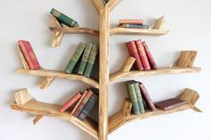 1.8m Oak Tree Shelf Made to Order by BespOakInteriors on Etsy