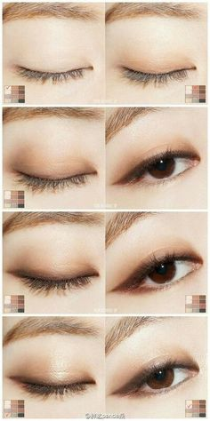 Korean makeup tips! When using makeup for work, keep in mind that less is far more. Apply certain foundation and concealer to disguise any blemishes. Neutral makeup colors for that eyes. Some eye liner and mascara Asian Makeup Looks, Korean Makeup Look, Korean Makeup Tips, Asian Eye Makeup, Natural Eye Makeup, Korean Eyeshadow, Korean Makeup Tutorial Natural, Chinese Makeup, Japanese Makeup