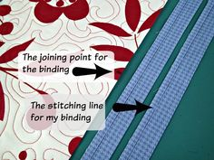Easy trick to perfectly join quilt binding - So Sew Easy Quilting For Beginners, Quilting Tips, Quilting Tutorials, Quilting Projects, Machine Binding A Quilt, Quilt Binding Tutorial, Bias Binding, Sewing Binding, Small Sewing Projects