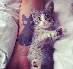 Jiji the black cat tattoo - Kiki's delivery service - Studio Ghibli