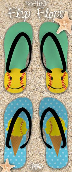 Summer is almost here which means we're ready to rock our softball pride on our favorite pair of flip flops!