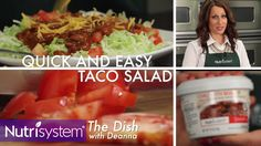 One of Nutrisystem members' favorite recipes is taco salad. And why not? It combines a healthy and satisfying salad—unlimited vegetables, of course—with cheese, Nutrisystem's delicious Chili with Beans entree and some tortilla chips. In this week's edition of our video series The Dish with Deanna, Nutrisystem's own Deanna Otranto walks you through the simple steps …