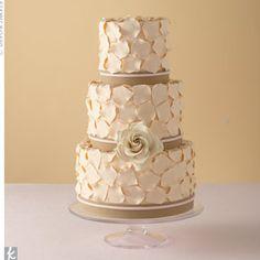 romantic petal wedding cake