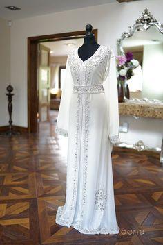 Al Mazyoona Dubai Arabic Chiffon Kaftan Dress Abaya Jalaba