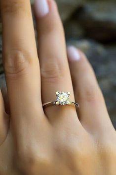 27 Rose Gold Engagement Rings That Melt Your Heart ❤️ rose gold engagement rings simple diamond ❤️ See more: http://www.weddingforward.com/rose-gold-engagement-rings/ #wedding #bride #engagementrings #rosegoldengagementrings