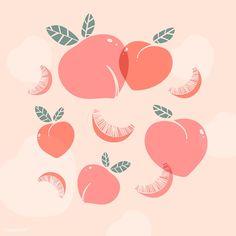 Graphic Design Illustration, Graphic Design Art, Digital Illustration, Peach Wallpaper, Wallpaper Backgrounds, Peach Background, Aesthetic Painting, Bullet Journal Art, Background Patterns