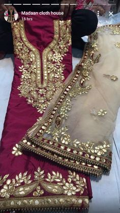 Indian Bridal Outfits, Pakistani Wedding Outfits, Pakistani Dresses, Indian Dresses, Punjabi Suits Designer Boutique, Indian Designer Suits, Designer Party Wear Dresses, Dress Neck Designs, Embroidery Suits