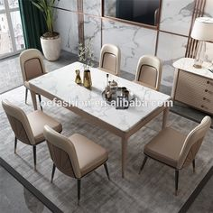 OE-FASHION stainless steel frame Light luxury home small apartment dining table simple post-modern dining table and chair, View dining table and chair, OE-FASHION Product Details from Foshan Oe-Fashion Furniture Co., Ltd. on Alibaba.com