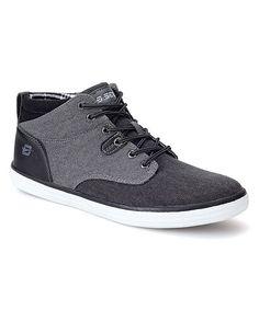Black & Gray Hi-Top Sneaker