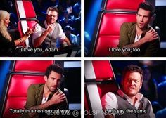 Haha I love Adam and Blake on the voice together!