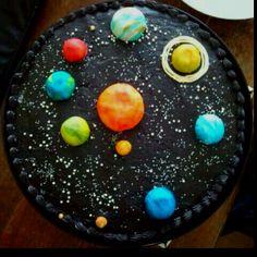 Solar system birthday cake by JRC