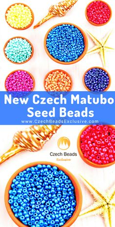 NEW ARRIVALS: Czech Glass Matubo 11/0 Seed Beads with new bead finish Tutti Frutti. | SAVE it!| www.CzechBeadsExclusive.com #czechbeadsexcluisve #czechbeads