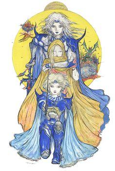 Final Fantasy IV - The After Years by Yoshitaka Amano