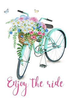 I made this pretty printable for you. I love bicycle prints and this one with the basket full of pretty flowers is one of my favorites. flowers printable A Pretty Printable for You - Create and Babble Illustration Blume, Creation Deco, Bike Art, Art Plastique, Printable Art, Printable Quotes, Bicycle Printable Free, Free Printables, Decoupage Printables