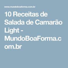 10 Receitas de Salada de Camarão Light - MundoBoaForma.com.br