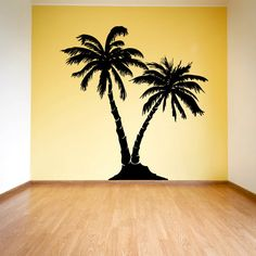 Palm Trees Silhouette Vinyl Wall Decal Sticker Graphic