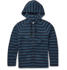 OuterknownLowtide Striped Cotton-Blend Terry Hoodie