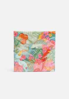 These colourful tropical napkins are great for parties with friends. Each pack contains 20 square paper napkins. Tropical Napkins, Paper Napkins, Weddings, Dinner, Chic, Eat, Color, Dining, Shabby Chic