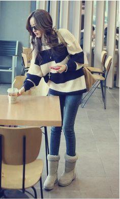 TaeYeon's Style Blue cheap sweater