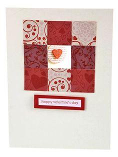 Happy Valentines handmade card
