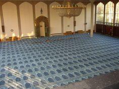 Bespoke carpet installation for Regents Park Mosque.