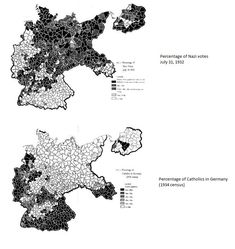 Nazi support and Catholicism in Germany in the early 1930s