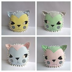 Cat Cushions by Cloth and Thread