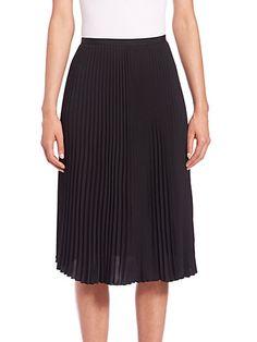 RAG & BONE Maxine Pleated Midi Skirt. #ragbone #cloth #skirt