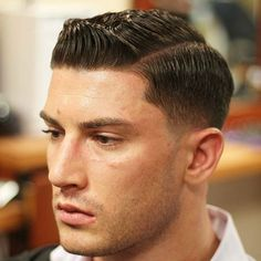 39 Classic Side Part Haircut for Men Fashion Cool Mens Haircuts, Best Short Haircuts, Popular Haircuts, Hairstyles Haircuts, Cool Hairstyles, Fresh Haircuts, Swept Back Hair, Slicked Back Hair, Short Hair Cuts