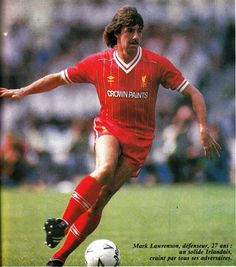 Mark Lawrenson of Liverpool in Vintage Football, Liverpool Fc, Soccer, Baseball Cards, Division, Sports, English, Hs Sports, Futbol