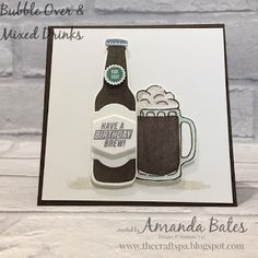Bubble Over & Mixed Drinks Guinness Stout Beer card by Amanda Bates at The Craft Spa. Stampin Up UK Demonstrator. Stampin Up Shop Online.