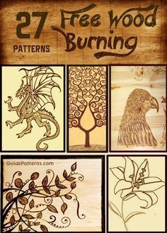 Ted's Woodworking Plans 27 Free Wood Burning Patterns Get A Lifetime Of Project Ideas & Inspiration! Step By Step Woodworking Plans Wood Burning Tips, Wood Burning Crafts, Wood Burning Patterns, Wood Patterns, Pattern Ideas, Wood Burning Projects, Wood Burning Stencils, Letter Patterns, Stencil Patterns